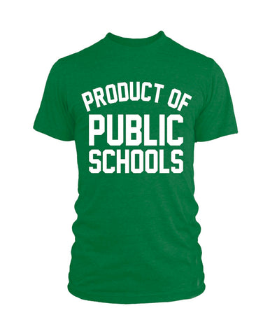 Product of Public Schools - Large Logo | Unisex - Green - Originalitees