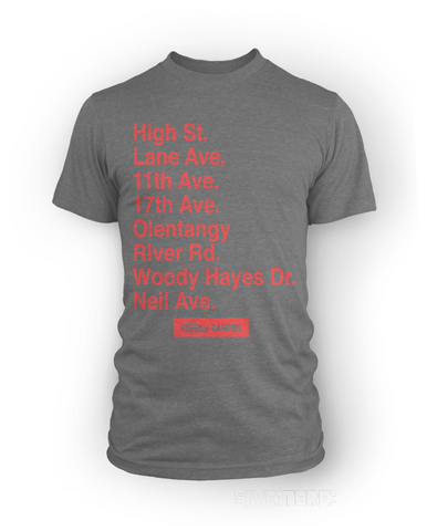 Columbus Streets - Campus Edition, New Apparel,Tees,Street Shirts - Originalitees