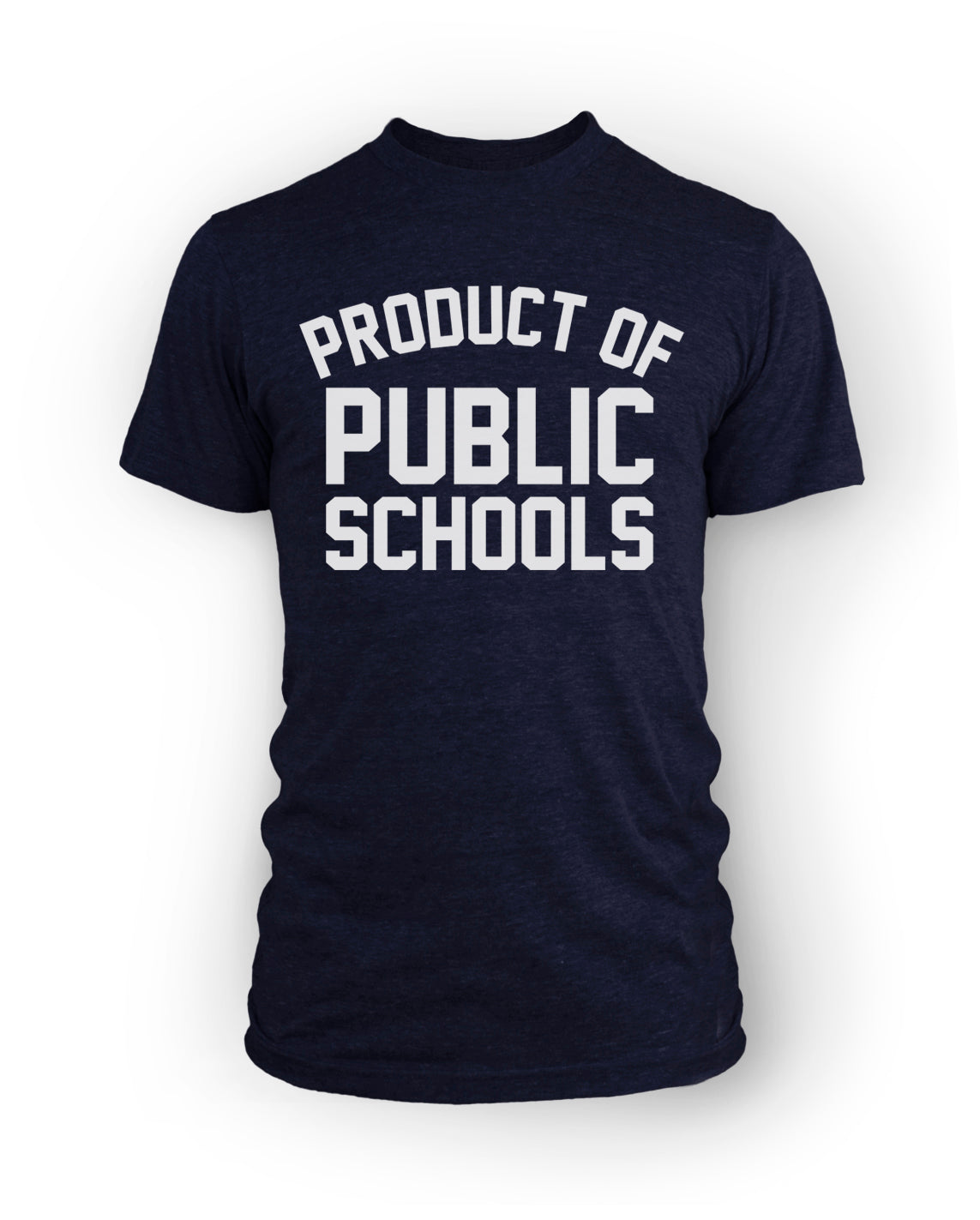 Product of Public Schools - Large Logo | Unisex - Navy - Originalitees