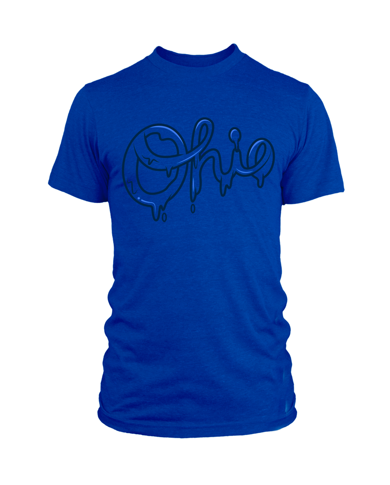 Ohio Drip Script - Royal Blue