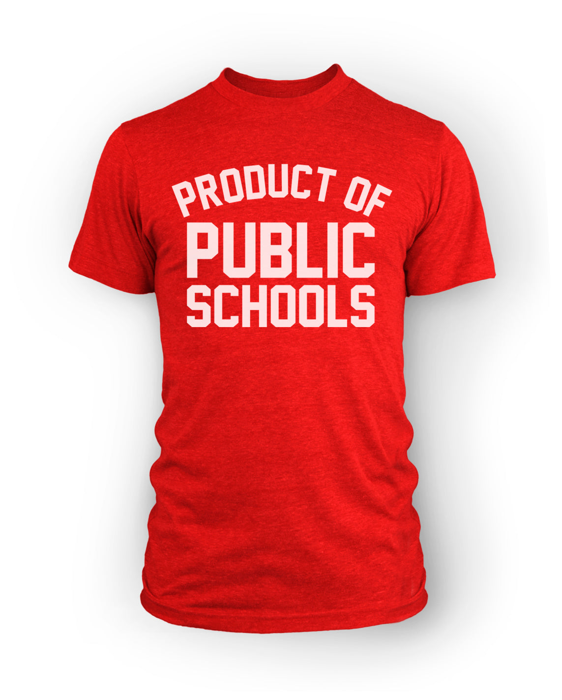 Product of Public Schools - Large Logo | Unisex - Red - Originalitees