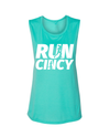 Run Cincy - Muscle Tank - Teal