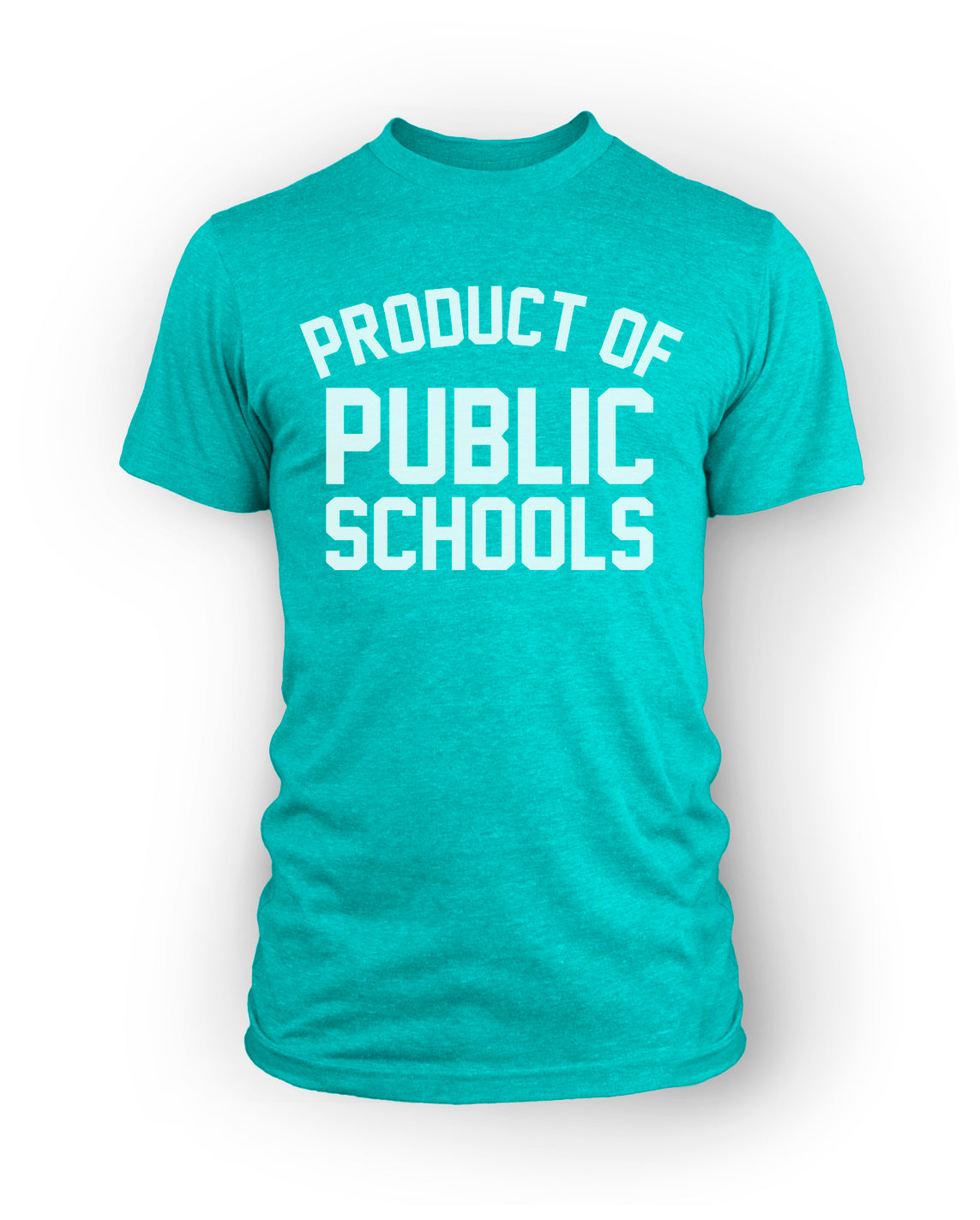 Product of Public Schools - Large Logo | Unisex - Sea Green - Originalitees
