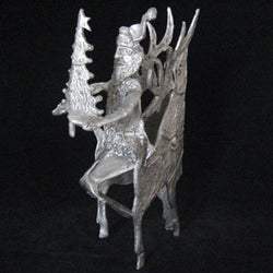 Don Drumm Santa with Deer and Tree