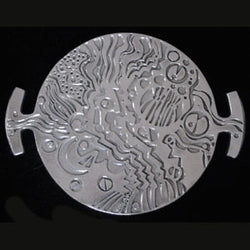 Don Drumm Round Abstract Tray / Trivet