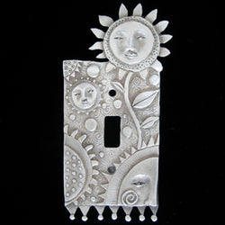 "Leandra Drumm ""Flower Faces"" Switchplate"