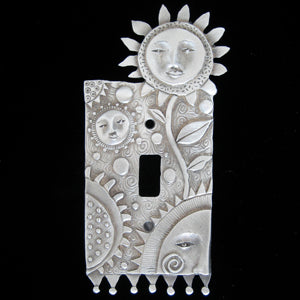 "Leandra Drumm ""Flower Faces"" Switch Plate"