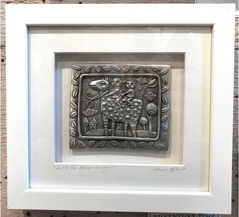 "New Leandra Drumm Framed Pewter ""Adventure Time"""