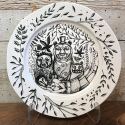 "NEW Leandra Drumm Ceramic Plate ""Goldilocks and The Three Bears"""