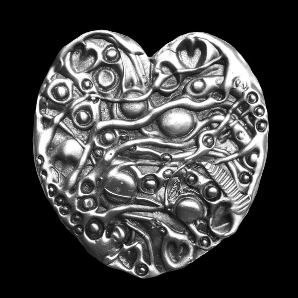 Don Drumm Pewter Heart Shaped Box