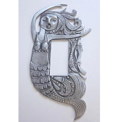 "Leandra Drumm ""Mermaid"" Pewter Dimmer Switchplate"