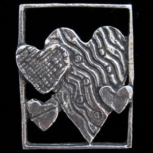 Don Drumm Four Hearts Pin