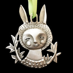 "Leandra Drumm ""Belle Rabbit"" Ornament"