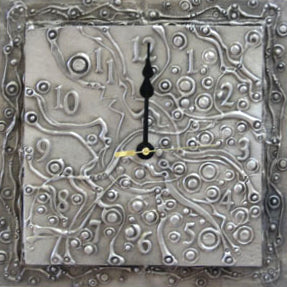 Don Drumm Abstract Drip Wall Clock