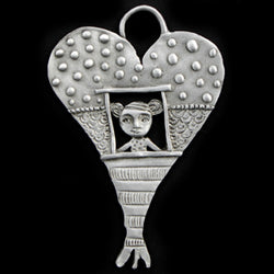 "Leandra Drumm ""Window To My Heart"" Ornament"