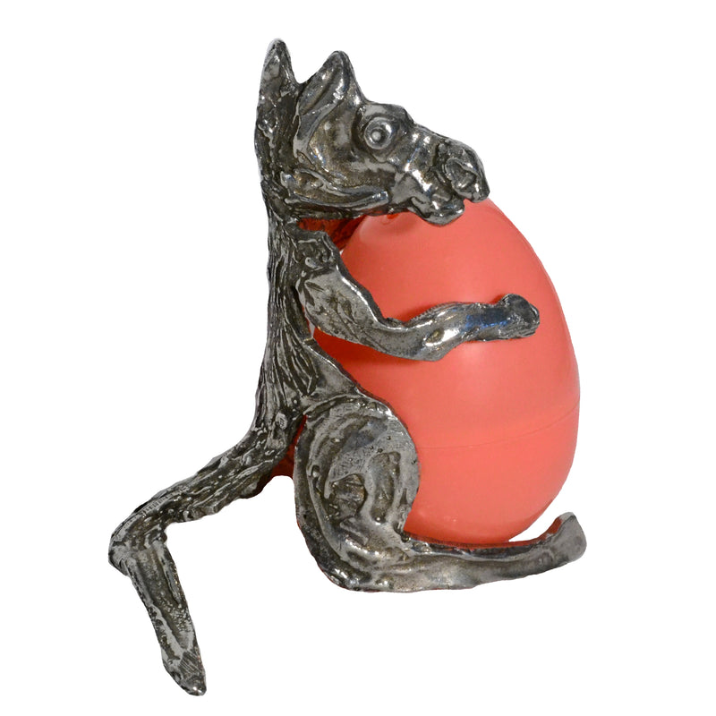 "Pewter ""Kangaroo"" Egg Holder"