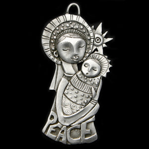 NEW! Leandra Drumm Peace Madonna Ornament