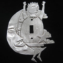 Leandra Drumm Man on the Moon Switchplate