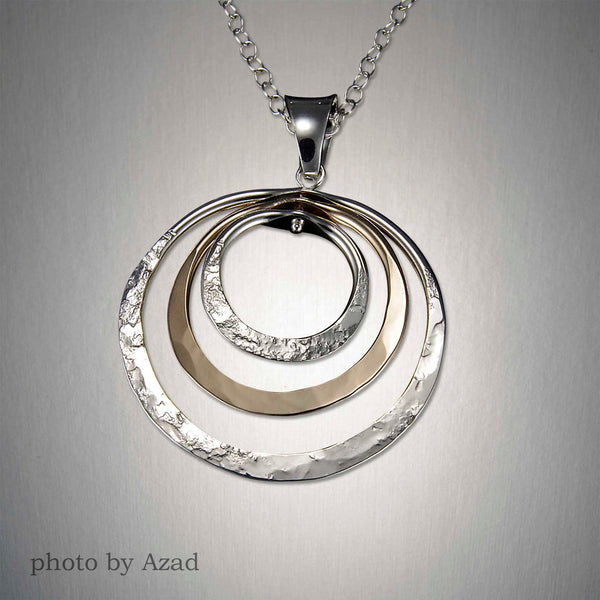 Peter James Triple Circles Pendant