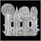 "Leandra Drumm ""Enchanted Forest"" Switch Plate, Triple"