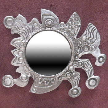 Don Drumm Abstract Small Round Mirror