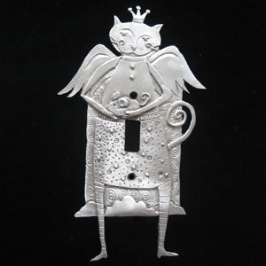 Leandra Drumm Cat Angel Switchplate