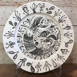 "NEW Leandra Drumm Ceramic Plate ""Mermaid's Garden"""