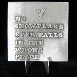 "Don Drumm ""No Snowflake Falls"" Tile"