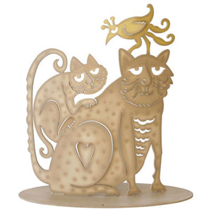 Don Drumm Two Cats Sculpture