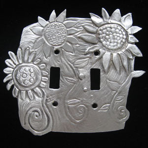 Leandra Drumm Double Sunflower Switchplate