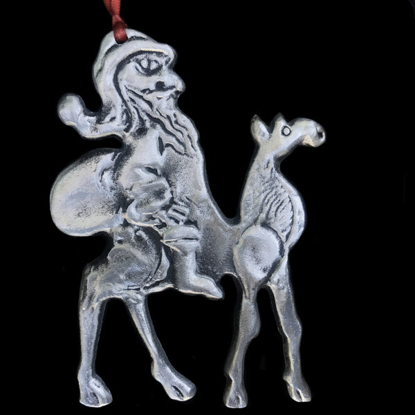 "Don Drumm ""Santa on Camel"" Aluminum Ornament"