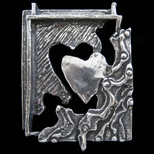 Don Drumm 3D Heart Pin