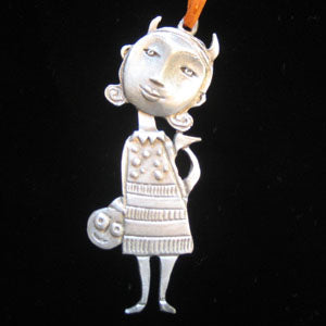 Leandra Drumm Devil Girl Ornament