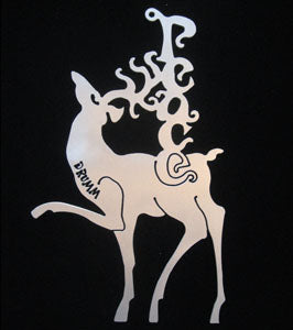 Don Drumm Peace Reindeer Ornament