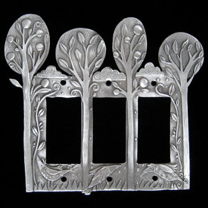 Leandra Drumm Orchard Triple Dimmer Plate