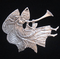 Don Drumm Angel with Long Horn Ornament