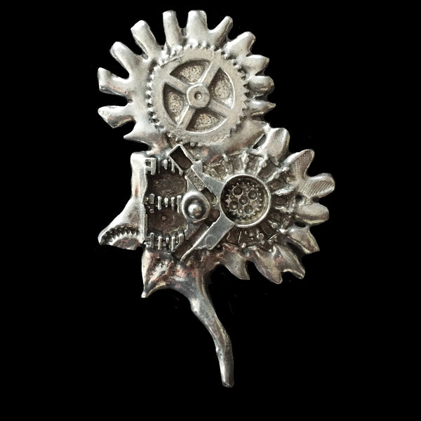 Don Drumm Pewter Flower Pin