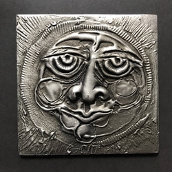 Don Drumm Square Pewter Sun Tile