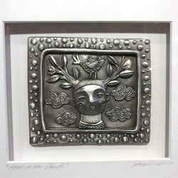 "New Leandra Drumm Framed Pewter ""Head In The Clouds"""