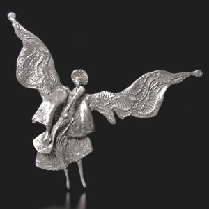 Don Drumm Large 3D Angel with Lute