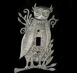 "Leandra Drumm ""Horned Owl"" Switchplate"