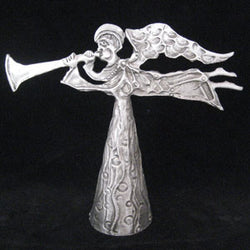Don Drumm Angel with Horn Tree Topper