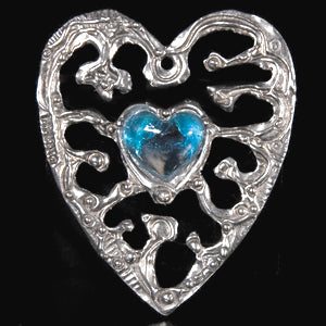Don Drumm Small Heart with Glass Wall Hanging