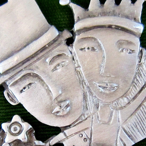 Leandra Drumm Wedding Couple Ornament