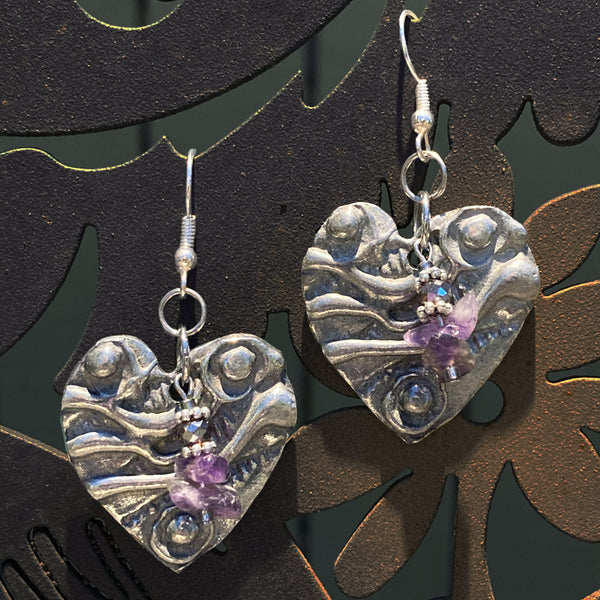Artistic Preservation + Don Drumm Large Heart Earrings