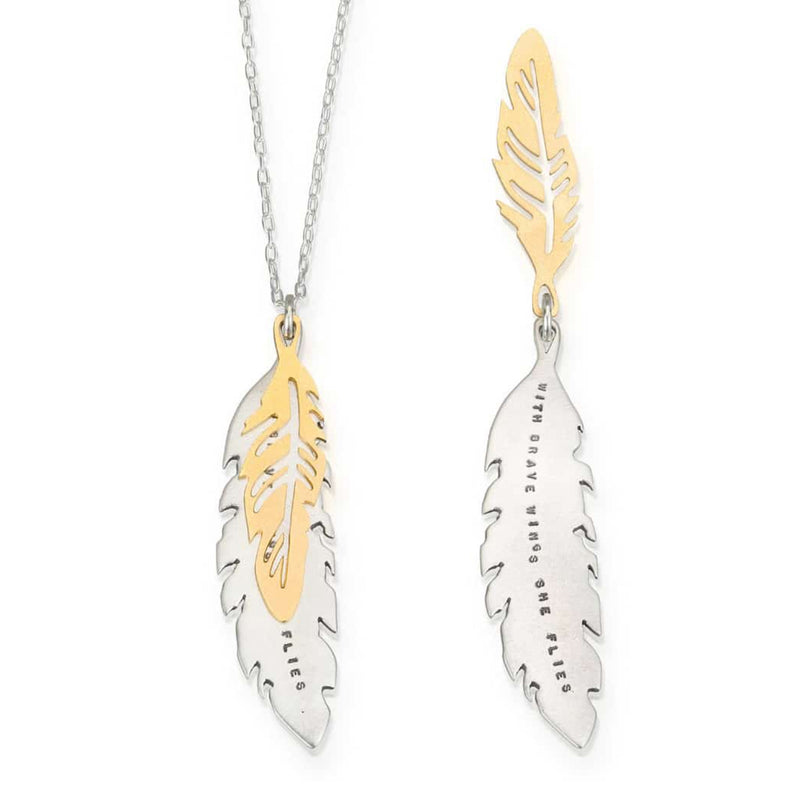Kathy Bransfield Feathers Necklace