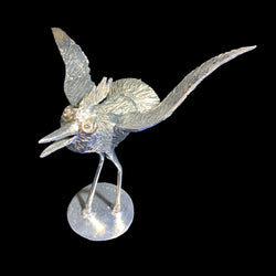 NEW! One of a Kind Pewter Bird Sculpture