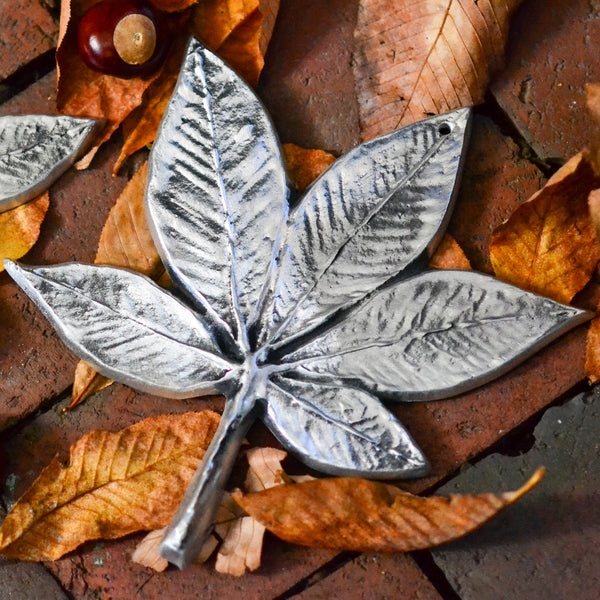 Large Buckeye Leaf Wall Hanging
