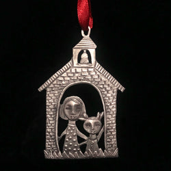 "Leandra Drumm ""School House"" Ornament"