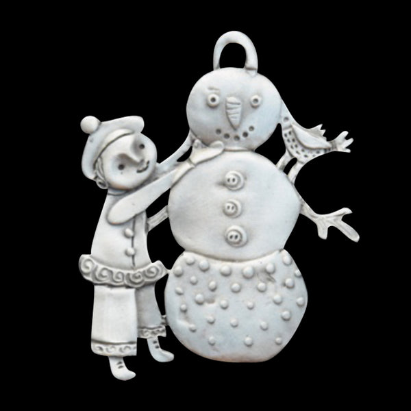 "Leandra Drumm ""Build a Snowman"" Ornament"